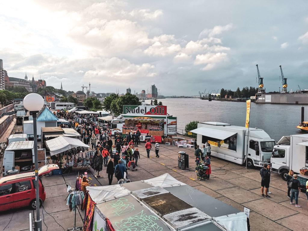 Hamburger Fischmarkt Aussicht