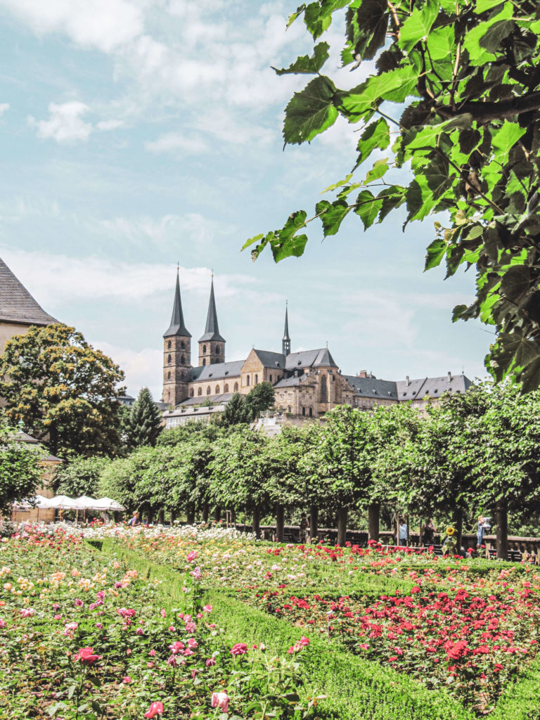 Rosengarten Bamberg und Kloster St. Michael