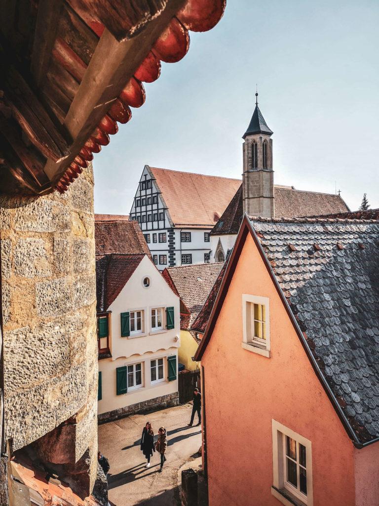 Ausblick auf Rothenburg ob der Tauber