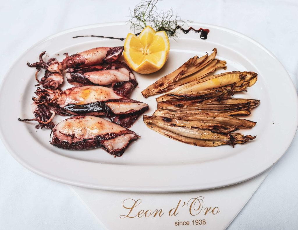 Calamari mit Chicorée