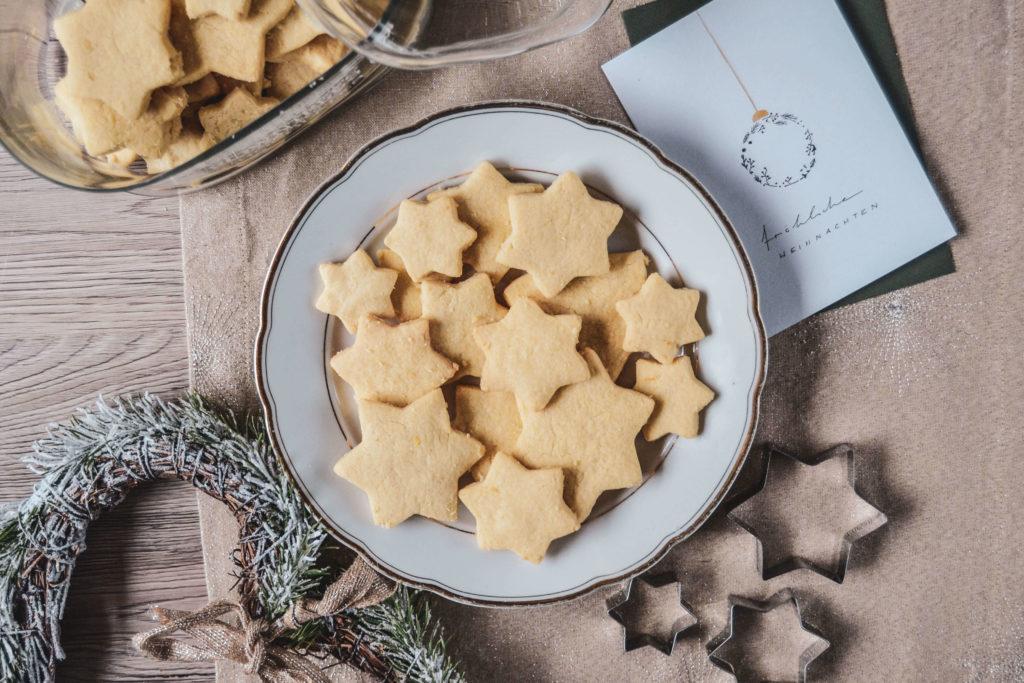 Sterntaler-Butterplätzchen Weihnachten