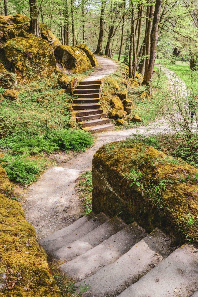 Treppen Park Schloss Fantaisie