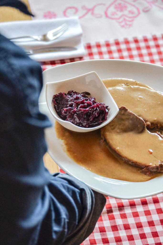 Fraenkischer Sauerbraten Gaststaette Maisel