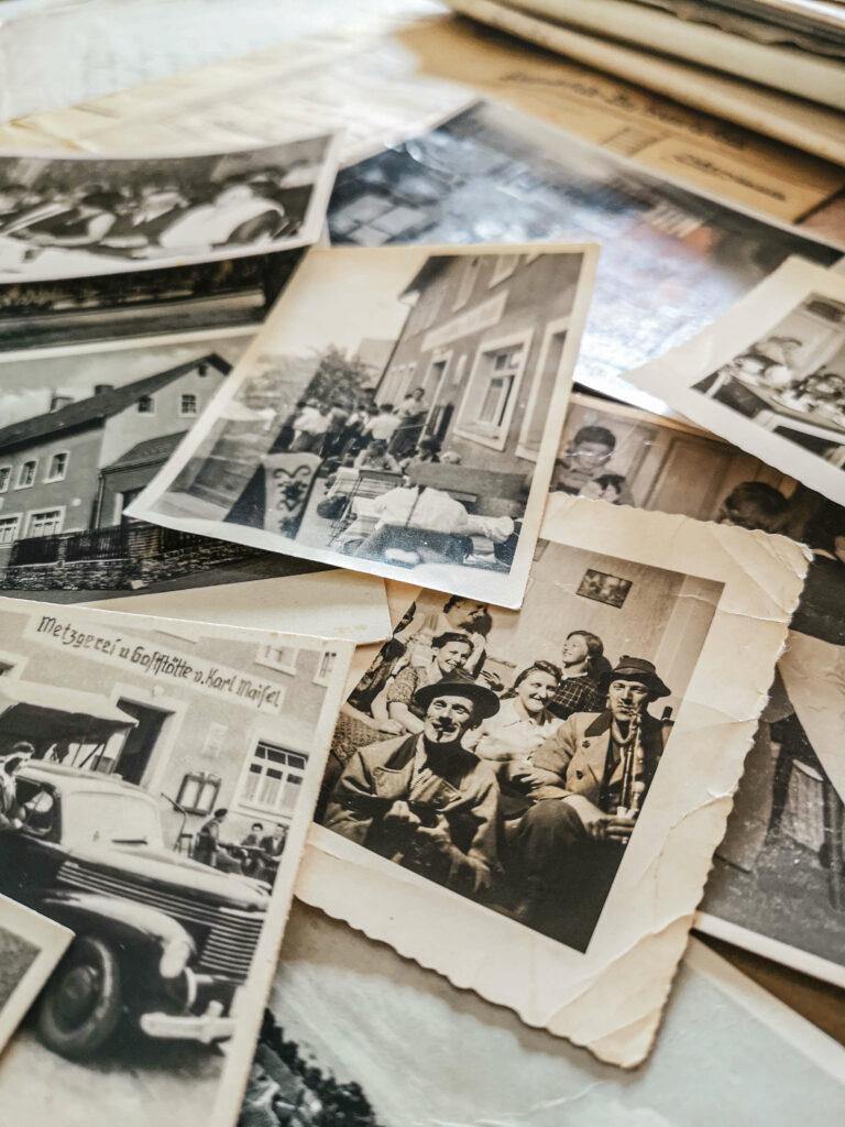 Schwarz-Weiß-Fotos Gatstaette Maisel