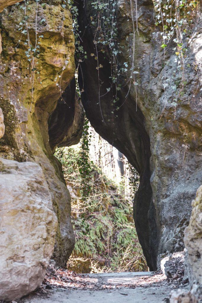 Felsengarten Sanspareil Durchgang