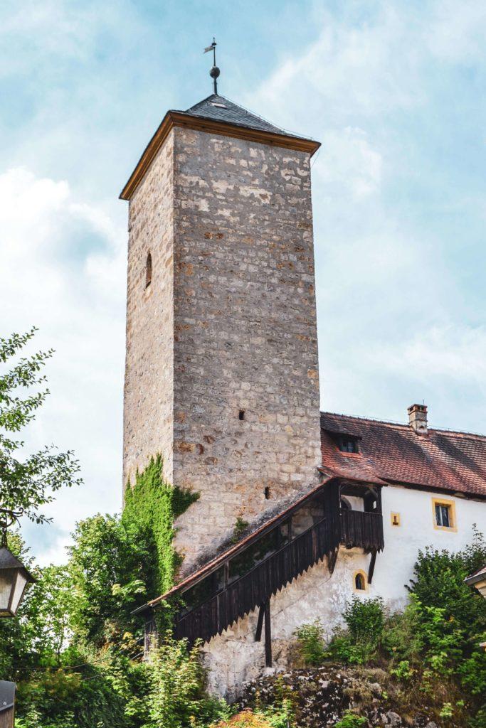 Bergfried Schloss Unteraufseß