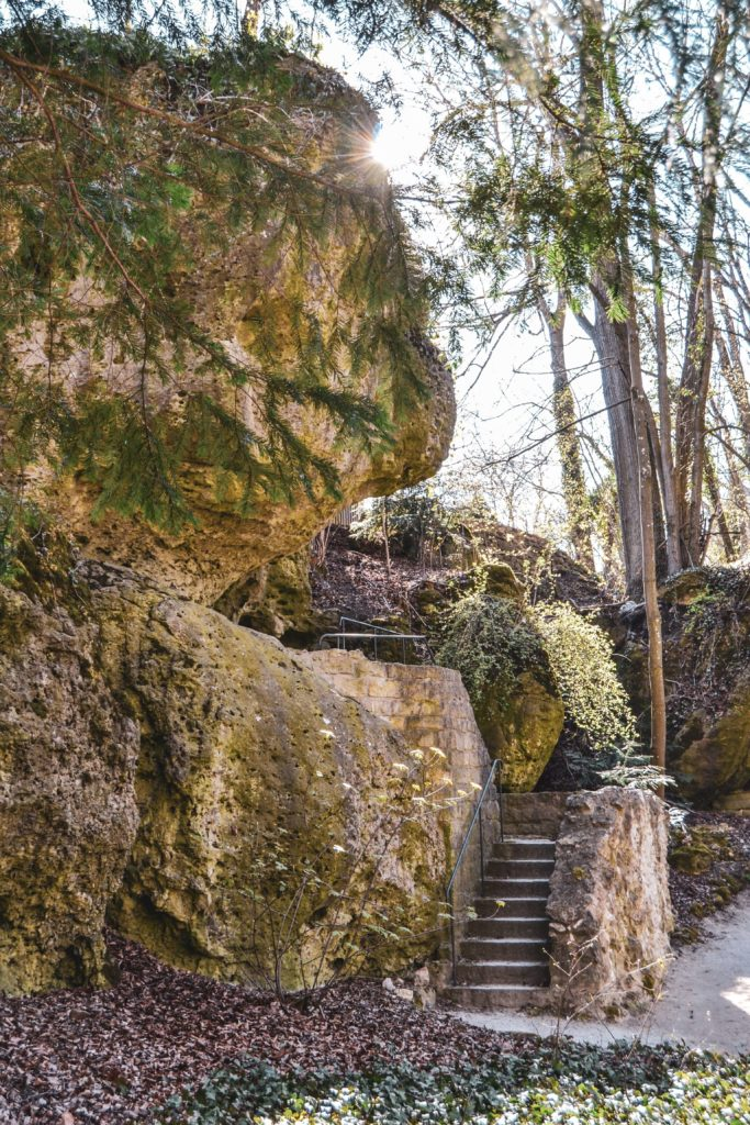 Felsengarten Sanspareil Felsformation mit Treppe