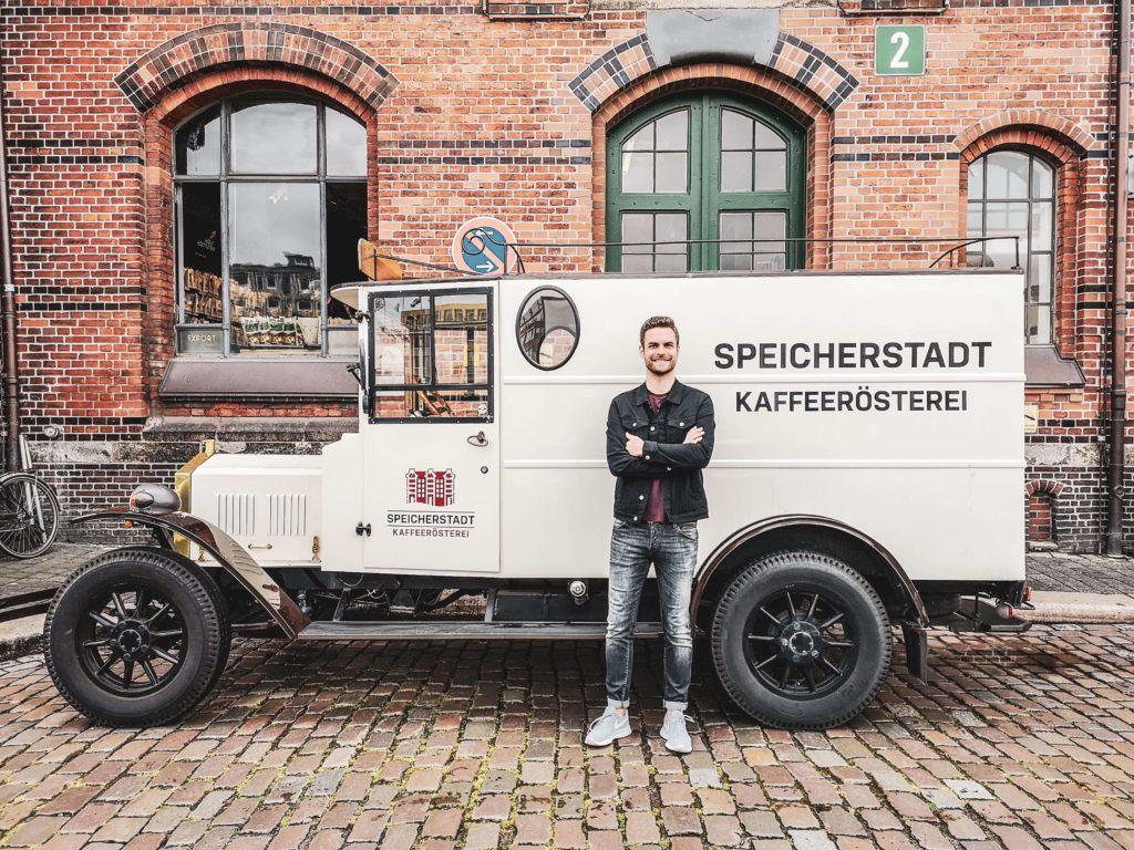 Oldtimer Kaffeeroesterei Speicherstadt Hamburg