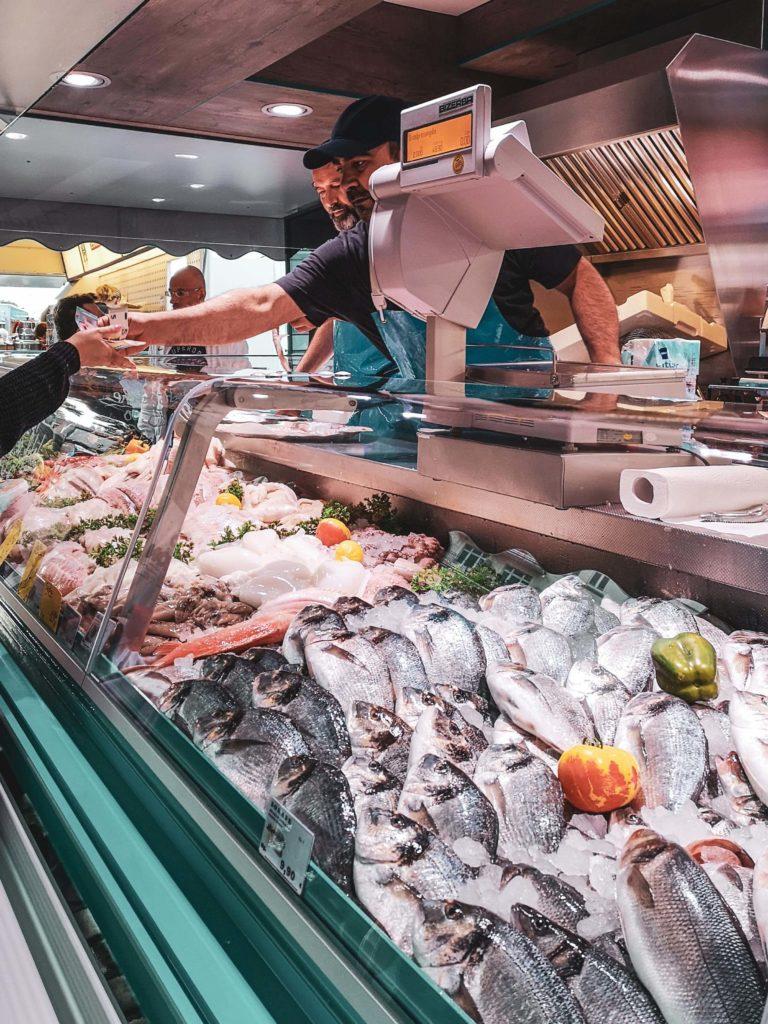Fischstand Hamburger Fischmarkt